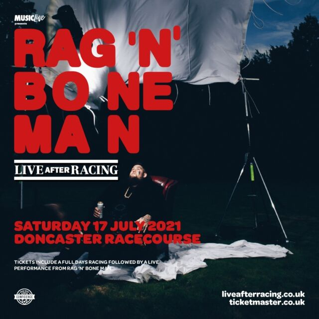 📣 Pop superstar @ragnboneman will be performing Live After Racing at @doncasterraces on Saturday 17th July 2021! 📣   Tickets for this unmissable event are on sale for @o2music customers this Wednesday at 9am.  🎟 General on sale this Friday at 9am >> https://bit.ly/3d3magx