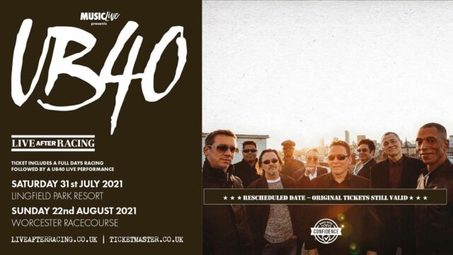 @ub40official are legends of English reggae & pop music. They have had more than 50 singles in the UK Singles Chart & are playing TWO shows with us this summer at @worcesterraces & @lingfieldpark 🎶 --- Tickets HERE 👉🎟️ http://bit.ly/3foI2FA