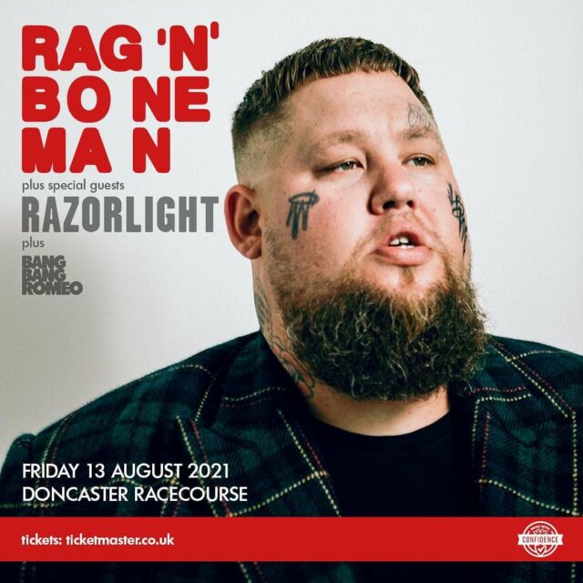 We are delighted to announce that the VERY special guest for the @ragnboneman show at @doncasterraces will be the one and only @razorlightofficial 🙌 @bangbangromeo will also play in a truly awesome line up of LIVE MUSIC! 🎸 - Tix available NOW 🎟️ VIA OUR BIO 🎟️