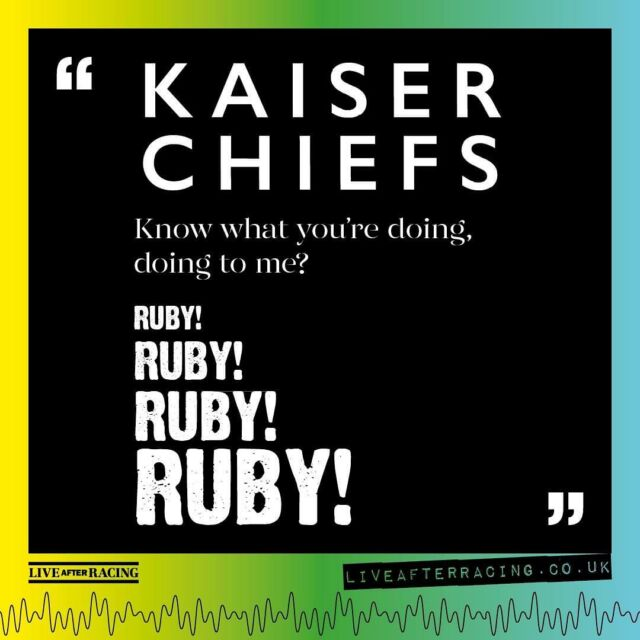 This Friday we are buzzing to see the @kaiserchiefs LIVE at @bathracecourse 🎊 - To get you in the mood, we wanted to remind you of some lyrics from one of the band's biggest tunes... It's safe to say its an easy one to guess! 🎤 - 🎟️ bit.ly/LAR_SHOWS & VIA OUR BIO 🎟️