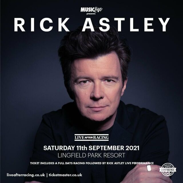 Treat yourself this Bank Holiday Monday to some tickets to the legend that is Rick Astley 🤩All you have to do is click the link to get your tickets today... 👉 bit.ly/LAR_SHOWS 👈 - #rickastley #lingfieldpark #liveafterracing #livemusic #attheraces
