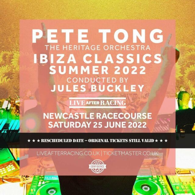 Who is ready to enjoy a night PACKED with IBIZA CLASSICS with @petetongofficial and The @heritageorchestra conducted by the incredible @julesbuckleymusic 💿💿 Join us for the party at @newcastleraces & get your tickets HERE 🎟️ bit.ly/LAR_SHOWS 🎟️