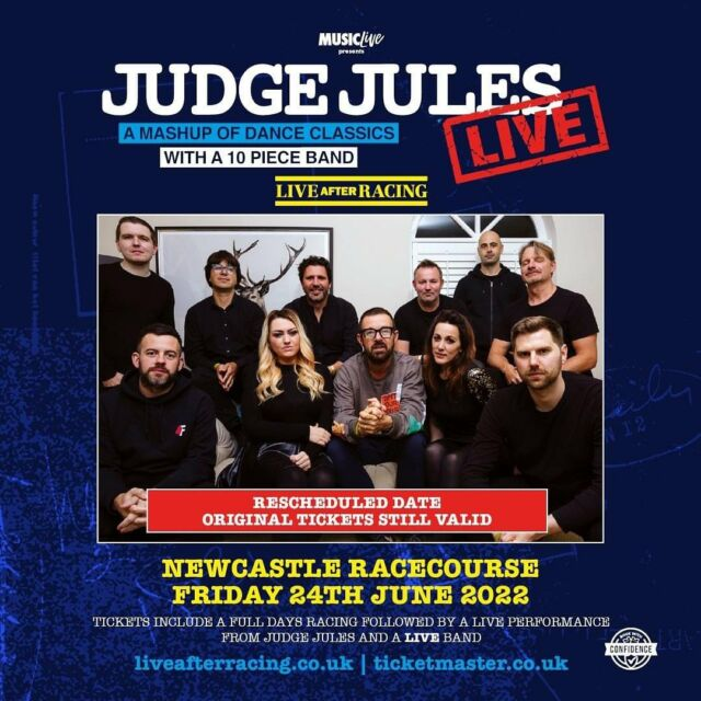 Who fancies a party with @realjudgejules and a 10-piece band for a night of full of a mashup dance classics? 🕺💃 Tickets include a full day of racing at @newcastleraces too! 🐎 - TICKETS HERE 🎟️ bit.ly/LAR_SHOWS