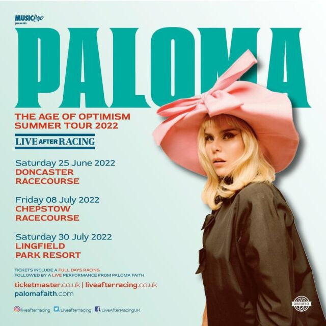 HUGE ANNOUNCEMENT! 📣  - Double platinum and @brits award-winning artist @palomafaith is coming to @doncasterraces @chepstowracecourse and @lingfieldpark NEXT SUMMER! ☀️ PRE-SALE goes live on Wednesday and general on sale from next Friday! 🐎 --- DONCASTER 🎟️ https://bit.ly/PALOMA-DON-PRE CHEPSTOW 🎟️ https://bit.ly/PALOMA-CHEP-PRE LINGFIELD 🎟️ https://bit.ly/PALOMA-LING-PRE